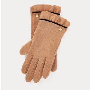 Ralph Lauren Wool Cashmere Tech Friendly Gloves SM